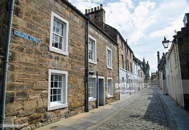 """College Street is a typical street in the Royal Burgh of St. Andrews, famous as the """"home of golf"""" and also for its world-class university."""