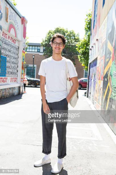 College student in alley