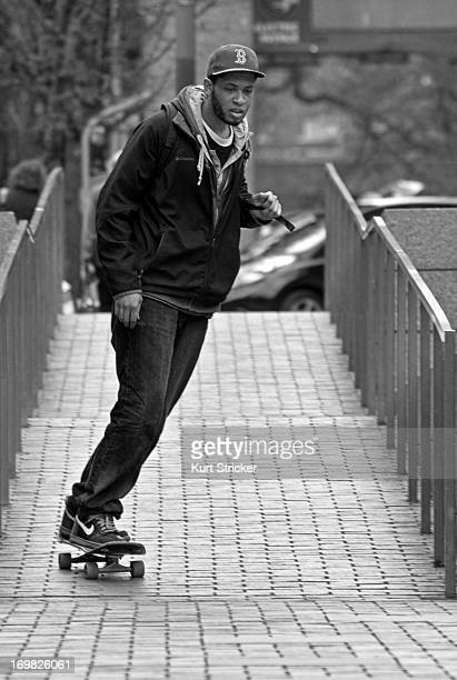 CONTENT] A college student surfs down a foot ramp on the campus of Portland State University in Oregon Skateboarding in Portland has become as...