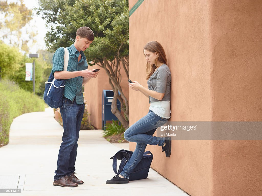 College students at campus : Stock Photo