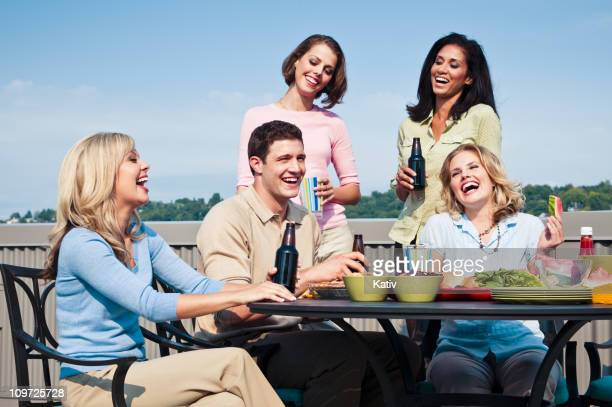 College Students at Picnic