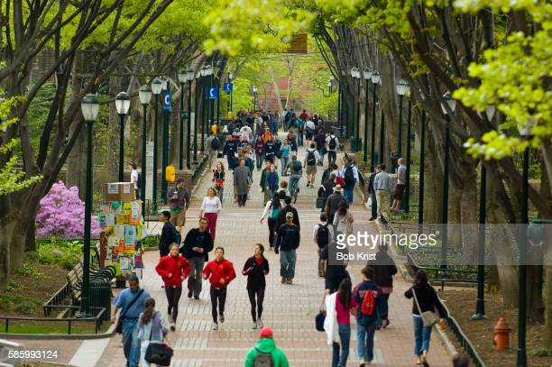 college students at university of pennsylvania - university of pennsylvania stock pictures, royalty-free photos & images