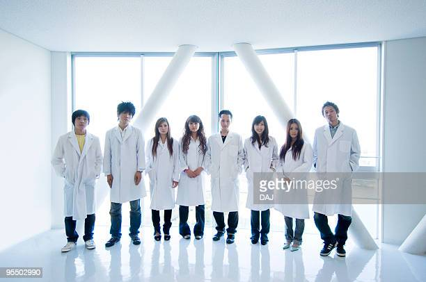 College Students in White Coat