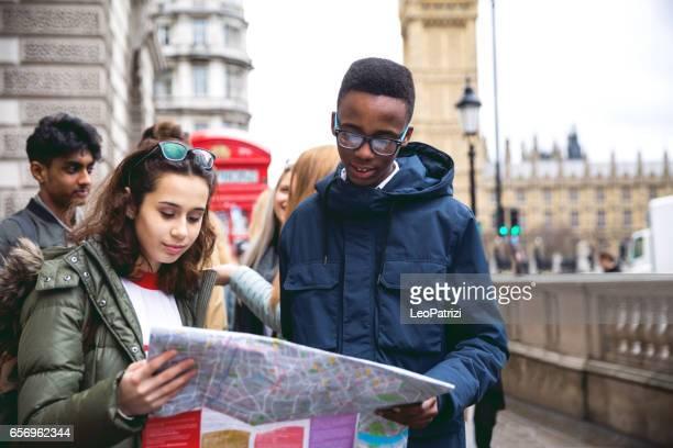Étudiants en voyage à Londres