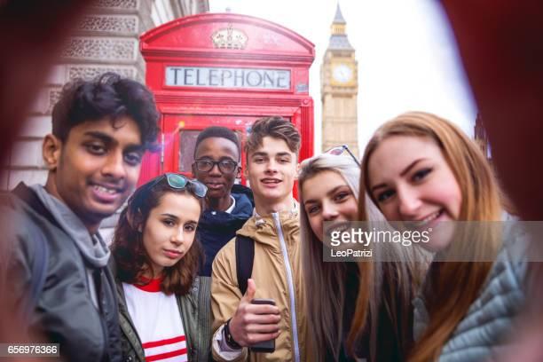 Studenten op reizen naar Londen