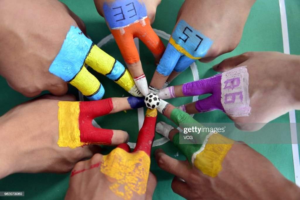 College Students Play Finger Soccer Game In Liaocheng
