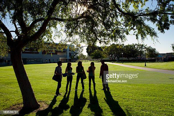 College Students Sillouette