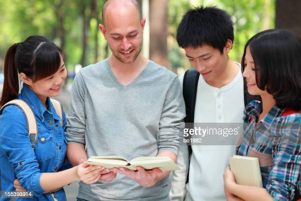 college students study together