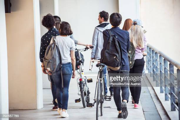 College students walking to class