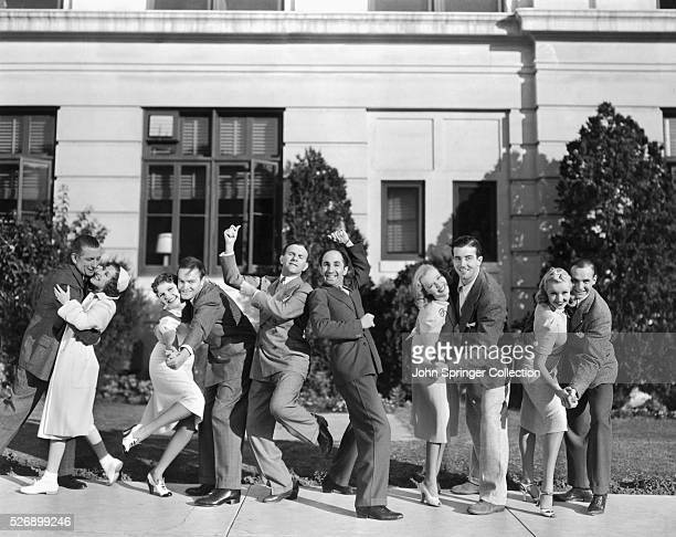 MT College Swing L to R Edward Everett Horton Gracie Allen Martha Raye Bob Hope George Burns Ben Blue Florence George John Payne Betty Grable Jackie...