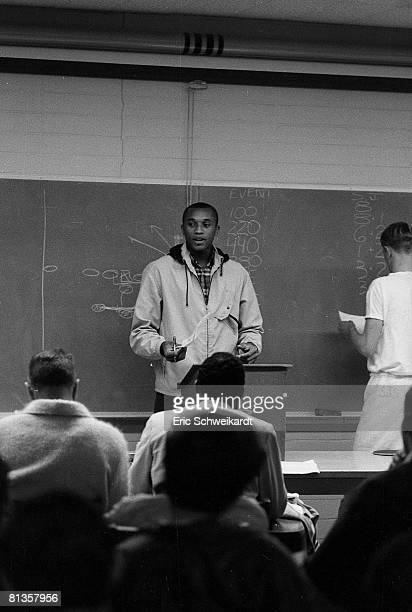 College Track & Field: Portrait of San Jose State Tommie Smith at class, San Jose, CA 4/23/1967