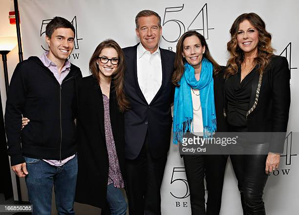 CollegeHumor cofounder Ricky Van Veen actress Allison Williams news anchor Brian Williams and radio host/ producer Jane Stoddard Williams pose with...