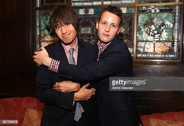 Collegehumorcom cofounders Ricky Van Veen and Josh Abramson receive the Citation of Merit for the Art of Comedy at The National Arts Club on January...