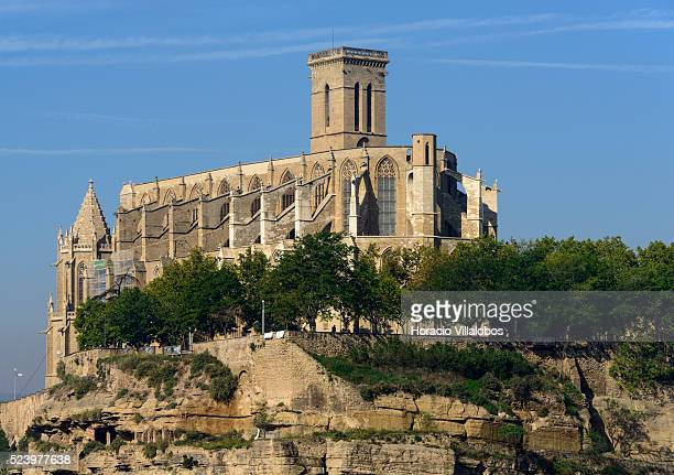 Collegiate Church Basilica of Santa Maria popularly called La Seu in Manresa Spain 17 October 2014 It is the flagship of the Spaniard Gothic...