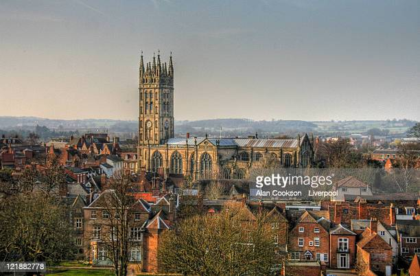 collegiate church of st mary - warwick uk stock photos and pictures