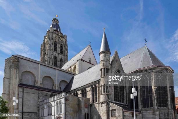 Collegiate church of St Walburga / Sint-Walburgakerk in the city Oudenaarde, East Flanders, Belgium.