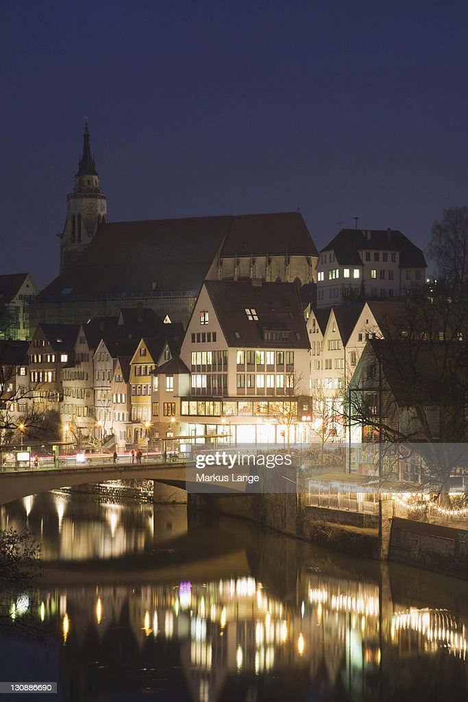 Collegiate Church, Tuebingen, Baden-Wuerttemberg, Germany, Europe : Stock Photo