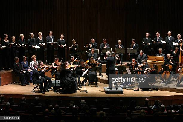 Collegium Vocale Gent Choir and Orchestra performing Bach's St John Passion at Alice Tully Hall on Sunday afternoon April 8 2007This imagePhilippe...