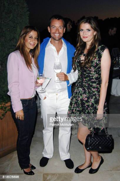 Collette Abedi Alex Hitz and Carly Steel attend Alex Hitz' Summer Dinner Party at a Private Residence on August 18th 2010 in Hollywood Hills...