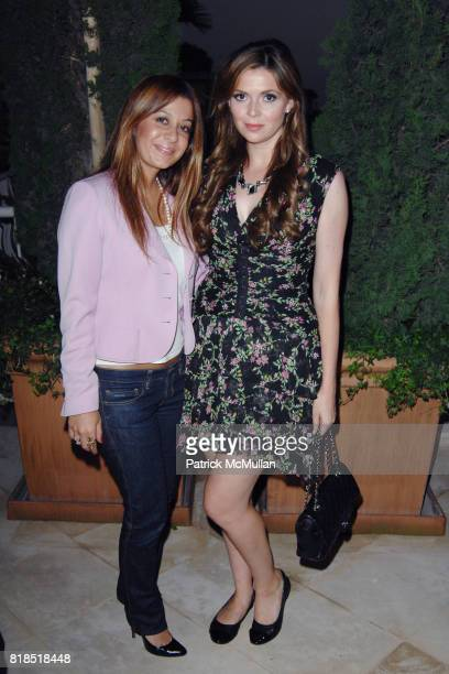 Collette Abedi and Carly Steel attend Alex Hitz' Summer Dinner Party at a Private Residence on August 18th 2010 in Hollywood Hills California