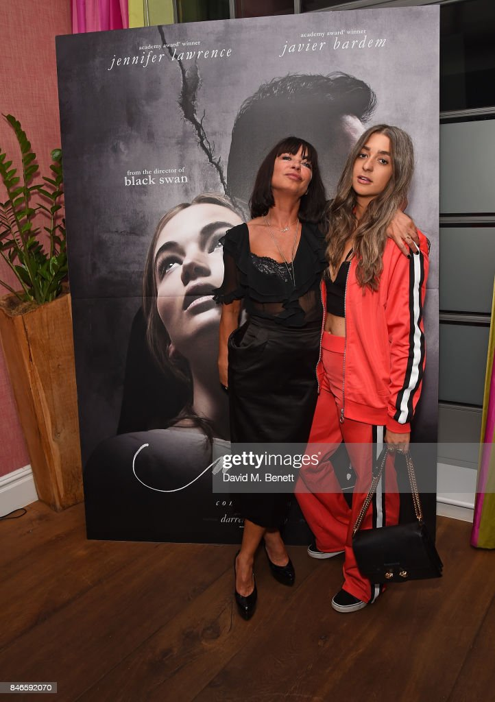 Collette Cooper and Harriet Rose attend a screening of 'mother!' hosted by Collette Cooper and Paramount Pictures in collaboration with Edible Cinema at The Soho Hotel on September 13, 2017 in London, England.