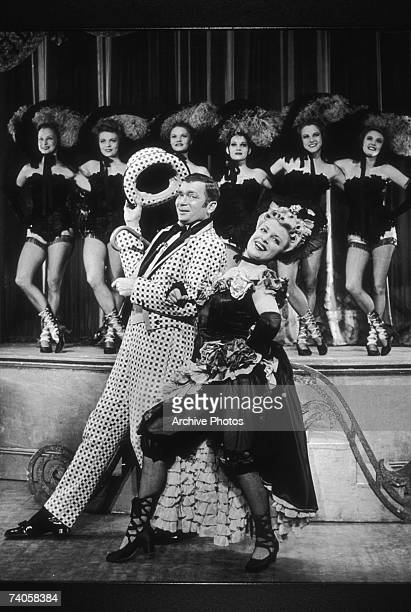 Collette Lyons as Ellie and Buddy Ebsen as Frank in a performance of the musical 'Show Boat' at the Ziegfeld Theatre New York 1946 Act II Scene 5...