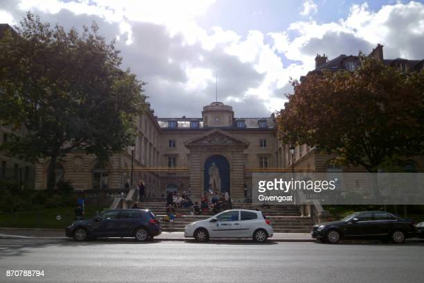 collège de france in paris - gwengoat stock pictures, royalty-free photos & images