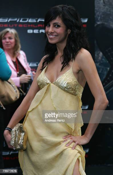 Collien Fernandes attends the 'Spiderman 3' premiere at the Cinestar cinema on April 25 2007 in Berlin Germany