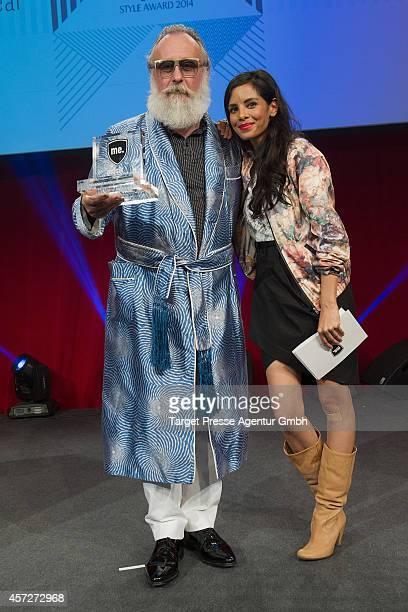 Collien UlmenFernandes and Friedrich Liechtenstein attend the Musikexpress Style Award 2014 at eWerk on October 15 2014 in Berlin Germany