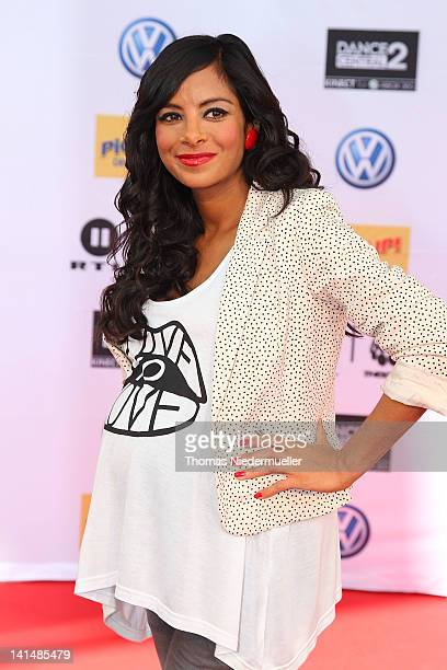 Collien UlmenFernandes arrives at 'The Dome 61' at the RheinMainTheater on March 16 2012 in Wiesbaden Germany