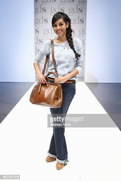 Collien UlmenFernandes attends the first day of the GDS Global Destination for Shoes Accessories tradeshow on July 29 2015 in Duesseldorf Germany