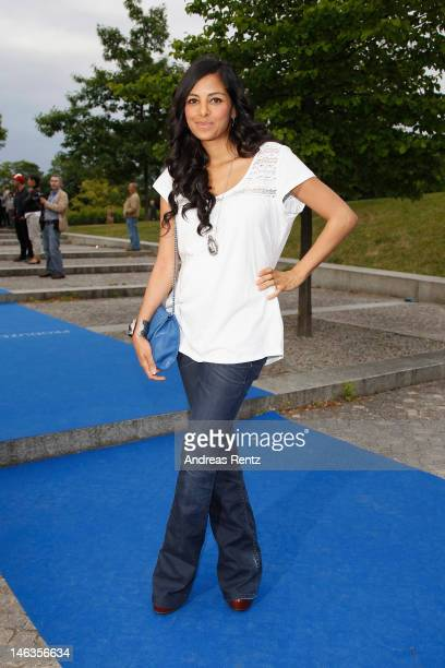 Collien UlmenFernandes attends the producer party 2012 of the German producers alliance on June 14 2012 in Berlin Germany
