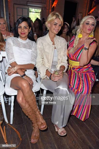 Collien UlmenFernandes Luisa Hartema and Daniela Katzenberger attend the NYX Face Awards 2018 on June 27 2018 in Berlin Germany