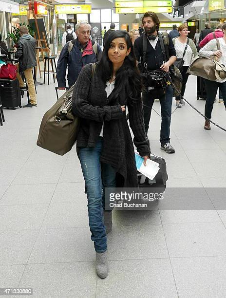 Collien UlmenFernandes sighted at Tegel Airport on April 27 2015 in Berlin Germany