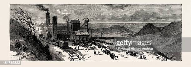 Colliery Explosion At Llanerch Monmouthshire General View Of The Works Just After The Explosion Engraving 1890 UK Uk Britain British Europe United...