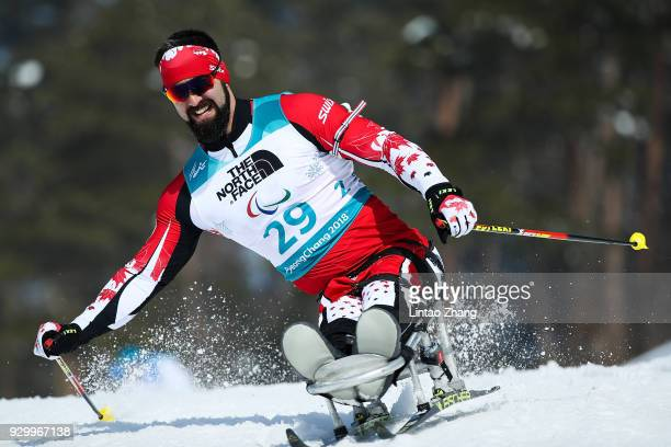 Collin Cameron of Canada competes in the Men's 75KM Sitting Biathlon event at Alpensia Biathlon Centre during day one of the PyeongChang 2018...