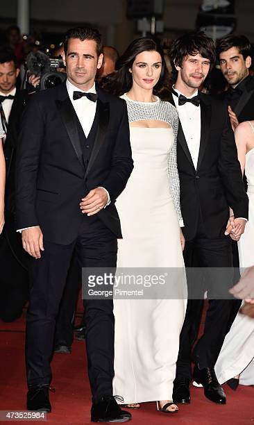 Collin Farrel Rachel Weisz and Ben Whishaw attend the 'Lobster' Premiere during the 68th annual Cannes Film Festival on May 15 2015 in Cannes France