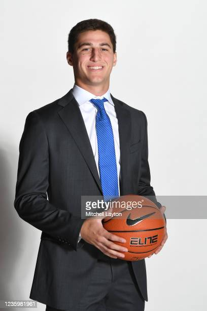 Collin Gillespie of the Villanova Wildcats poses for a photo during the Big East Media Day at Madison Square Garden on October 19, 2021 in New York...