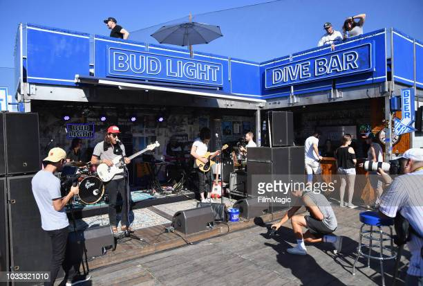 Collin Johnson of Flaural performs at the Bud Light Dive Bar during day 1 of Grandoozy on September 14 2018 in Denver Colorado