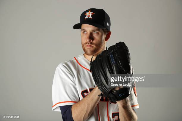 Collin McHugh of the Houston Astros poses for a portrait at The Ballpark of the Palm Beaches on February 21 2018 in West Palm Beach Florida