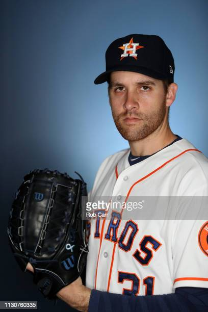 Collin McHugh of the Houston Astros poses for a portrait during photo days at FITTEAM Ballpark of The Palm Beaches on February 19 2019 in West Palm...