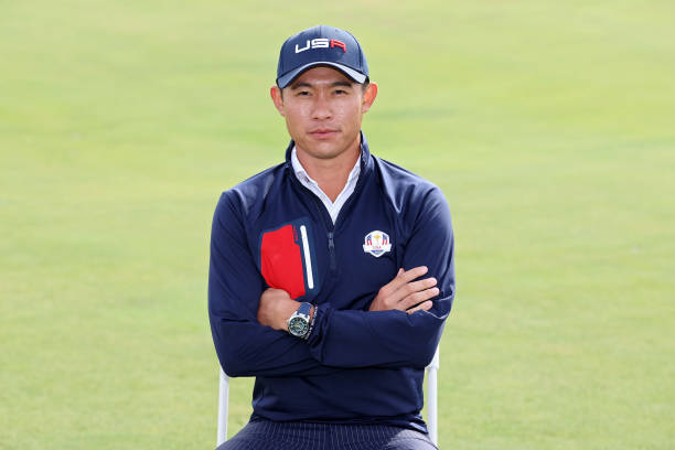 Collin Morikawa of team United States poses for a photo prior to the 43rd Ryder Cup at Whistling Straits on September 22, 2021 in Kohler, Wisconsin.