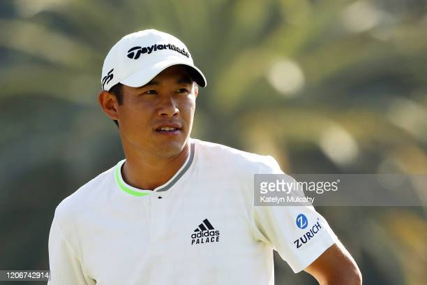 Collin Morikawa of the United States looks on during the final round of the Genesis Invitational on February 16 2020 in Pacific Palisades California
