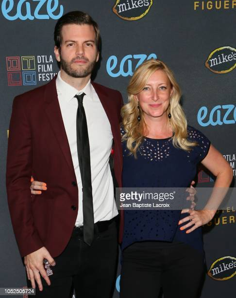 Collin Schiffli and Amy Greene attend the 2018 Downtown Los Angeles Film Festival 'All Creatures Here Below' 'Original Sin' And Perception' Press...