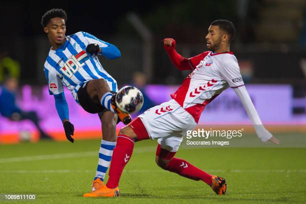 Collin Seedorf of FC Eindhoven Sylla Sow of FC Utrecht U23 during the Dutch Keuken Kampioen Divisie match between FC Eindhoven v Utrecht U23 at the...