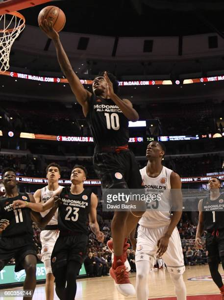 Collin Sexton of the boys east team during the 2017 McDonalds's All American Game on March 29 2017 at the United Center in Chicago Illinois The West...
