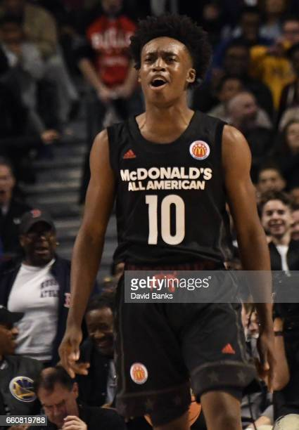 Collin Sexton of the boys east team during the 2017 McDonalds's All American Game on March 29 2017 at the United Center in Chicago Illinois