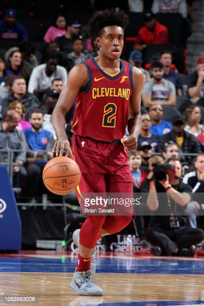 6983d7f3ff6 Collin Sexton of the Cleveland Cavaliers handles the ball against the  Detroit Pistons on October 25