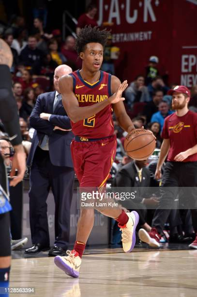 Collin Sexton of the Cleveland Cavaliers handles the ball against the Orlando Magic on March 3 2019 at Quicken Loans Arena in Cleveland Ohio NOTE TO...