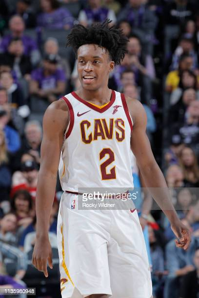 Collin Sexton of the Cleveland Cavaliers looks on during the game against the Sacramento Kings on April 4 2019 at Golden 1 Center in Sacramento...